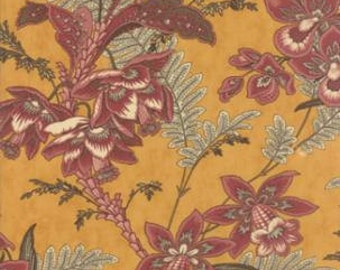 Wild Orchid Floral Gold 277014 - 1/2yd