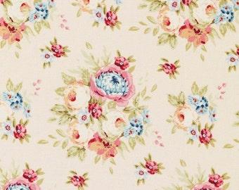 TILDA - Garden Flowers Dove White - 1/2 yard
