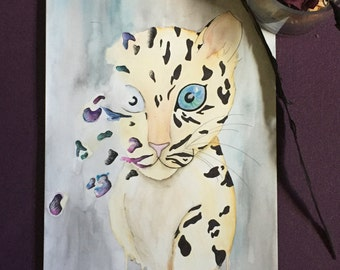 Endangered: Clouded Leopard Illustration Print