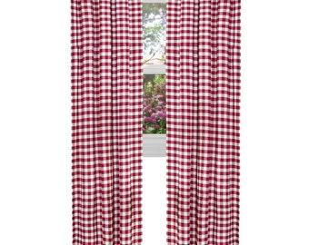 ArtOFabric Checkered Gingham Polyester Curtain Panel