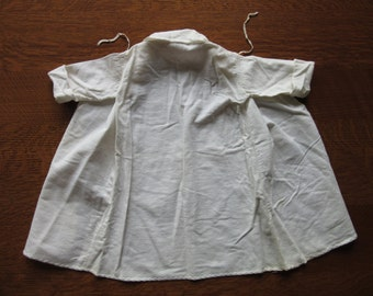 Antique Flannel Infant Bathrobe, Robe, Vintage Baby Clothing, Cotton Nighties, Night Gown,Children's Clothes,Garments,After Bath Accessories