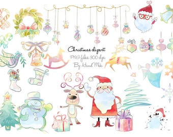 Christmas party ,Christmas Clipart Instant Download,PNG file - 300 dpi