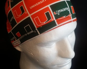 University of Miami Tie Back Surgical Scrub Hat