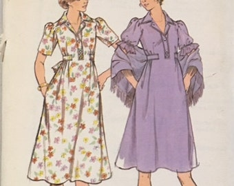 Butterick Vintage Pattern 4715 Misses Dress and Shawl UNCUT Size: 14