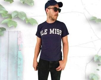 Classic Ole Miss University 90's Tee Shirt
