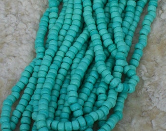 Green crow bead, 9 mm glass beads, large beads, bead supply, craft supply, turquoise green beads , for diy craft project