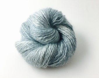 Hand-dyed SILK MOHAIR in ice
