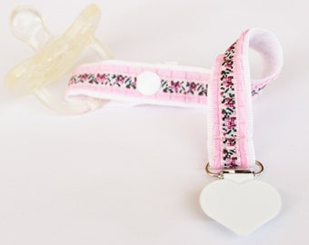 Baby Girl Pacifier Clip, Pacifier holder, Soothie pacifier, Baby pacifier clip, Embroidery pacifier, Binky Clips, Girl pacifier, Paci Clip