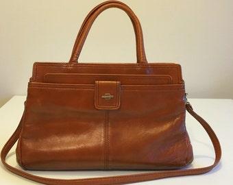 Vintage tote bag / / cognac / / 70 s