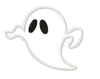 Embroidery Design Applique Ghost 4'x4' - DIGITAL DOWNLOAD PRODUCT