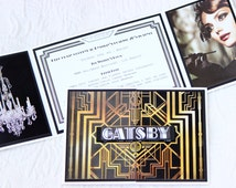 The Great Gatsby Theme Invitations