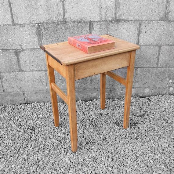 Vintage Single School Desk - 1960s Table  - Perfect Laptop Office - Storage