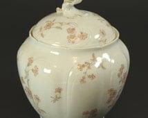 Lidded Limoges Biscuit Jar C H Field CFM GDM Stamp French Porcelain Cookie Jar 1890s