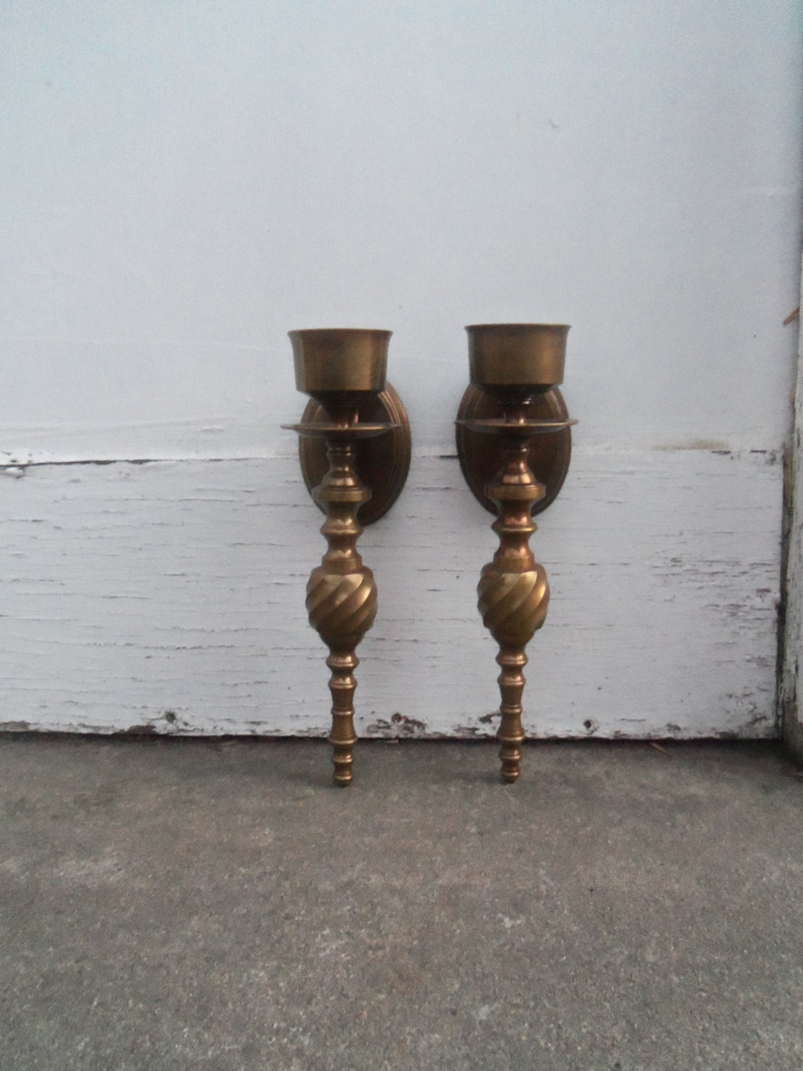 Wall Sconce Hanging Hardware : Wall Sconce Brass Wall Sconce Pair