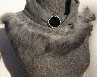 Felted Angora Cowl Loop