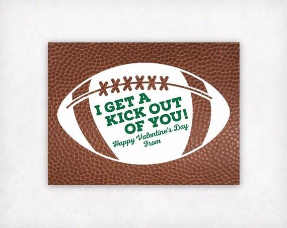 Valentine Card Kids Printable Football Valentines Day Cards – Football Valentines Day Cards