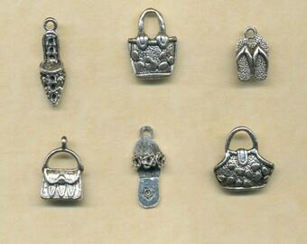 6 Handbag and Shoe charms
