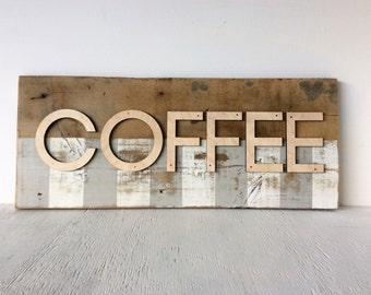 Coffee Barn Wood Wall Sign