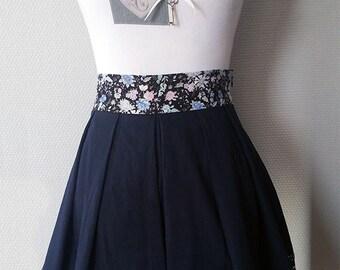 """Skirt """"Navy spring"""""""