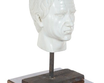 Antique Carved Marble Head of a Roman Emperor