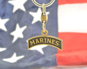Marines Key Chain by Service Tabs