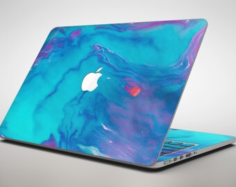 Marbleized Ocean Blue - Apple MacBook Air or Pro Skin Decal Kit (All Versions Available)