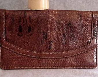 Classic King COBRA Snakeskin Clutch Handbag