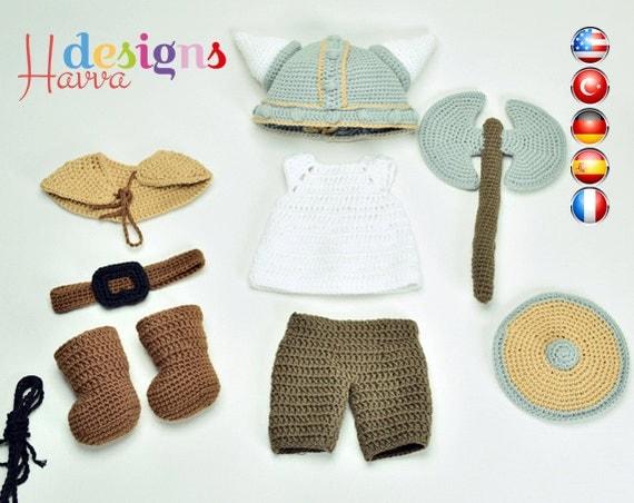 Amigurumi Wikinger : Muster Wikinger-Kostum nur Bekleidung