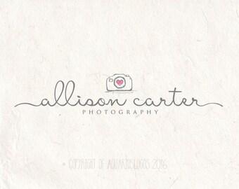 Photography logo - premade logo design - Photography Watermark - Camera logo. Instant download digital download psd file