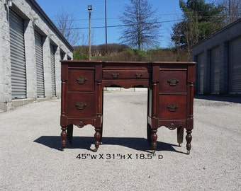 AVAILABLE Vanity, Five Drawer Knee Hole, Desk, Secretary, Writing Desk