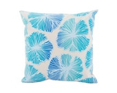 """Pillowcase 18""""x18"""" - One of a Kind """"Sea Flower"""" Print - Made in Hawaii by Jana Lam"""