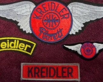 4 different Vintage Kreidler Motorcycle Patches 70's