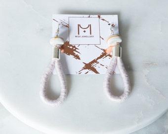 SALE 50% OFF!!!!! Rope earrings, Handmade Earrings, Gift for Her, Polymer Clay Earrings, Designer Earrings