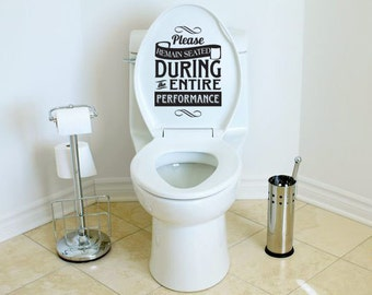 Toilet Decal Sticker Please Remain Seated