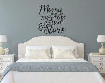 Game of Thrones Inspired Moon of My Life My Sun and Stars Wall Decal Sticker