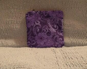 Small Purple Zipper Pouch