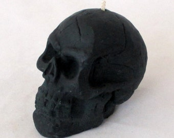 Skull candle, Black Magic candle, votive candle, halloween candle, spell candle, wicca candle, goth candle, black skull candle, pagan candle