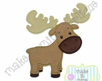 Applique Moose Machine Applique Design