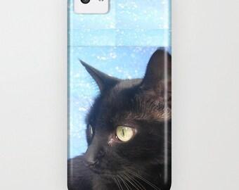 phone cover, black cat phone case, 5s case,5c, 4s, 3, phone case, ipod touch, galaxy s5, galaxy s4 , cat phone cover, black cat phone case