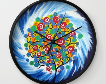 clock for bedroom, kitchen clock, wall clock, wall clocks, clock for wall, bedroom clock, clocks, bright clocks, art clocks, happy wall art