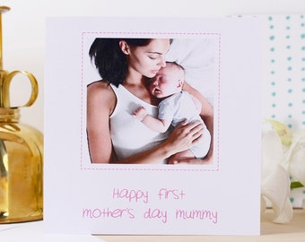 Personalised 'First Mothers Day' Photo Card