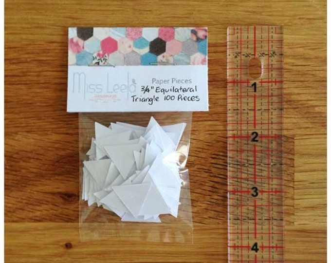 "100 Three Quarter Inch (3/4"") Equilateral Triangle Paper Pieces - English Paper Piecing - Patchwork Quilting"