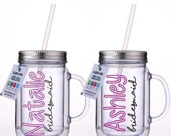 Cute customized mason jar cup
