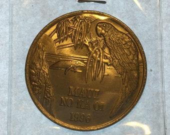 2 Vintage Hawaii Islands Trade Dollar Token Coins