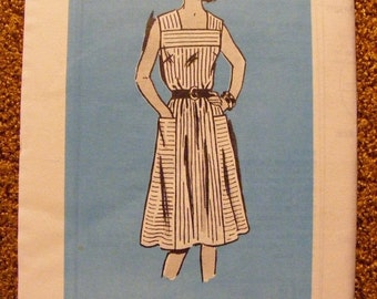 51% OFF Vintage Anne Adams Mail Order Sewing Pattern 4508 Misses' Square Yoke Dress Size 16