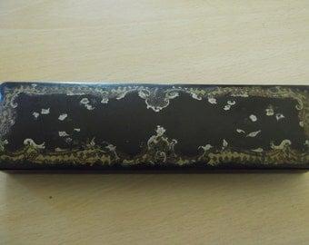 Victorian papier mache brush box