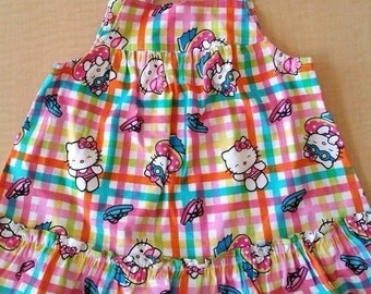 Hello Kitty Handmade Dress Size 12 Months