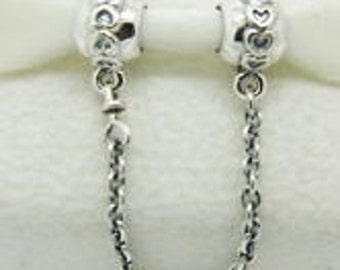 Authentic Pandora Sterling Silver Love Connection Safety Chain