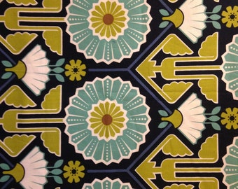 MODERN MEADOW by Joel Dewberry - Fabric - Sunflower in Lake -  Quilting - Sewing - Home Decor - Free Spirit - Floral - Mosaic - Westminster