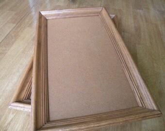 Oak picture frame 10x18 , chalk board, wall hanging